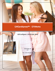 CFXWorks GiftcardXpress Embedded gift card payment solution brief pdf
