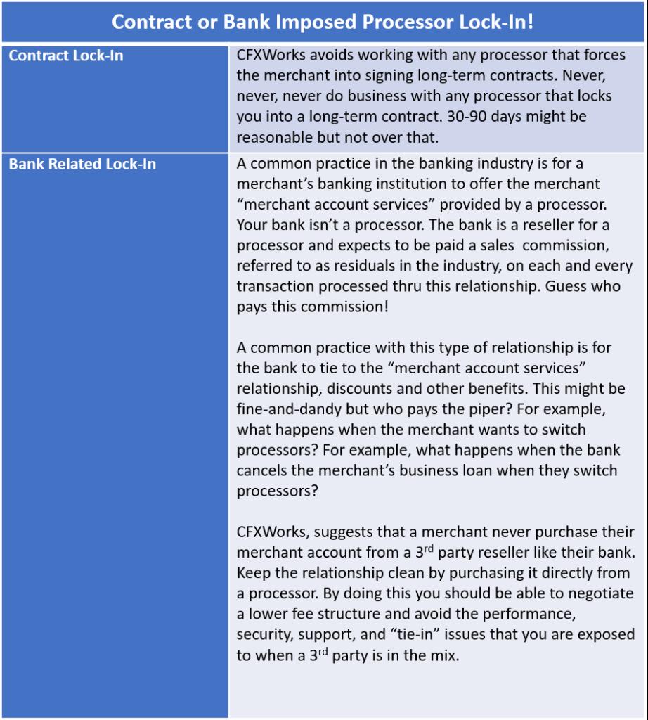 Avoid Lockin - Table 2
