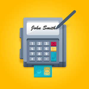 Signature Capture on a credit card terminal